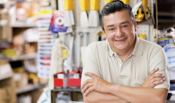Man at a hardware store